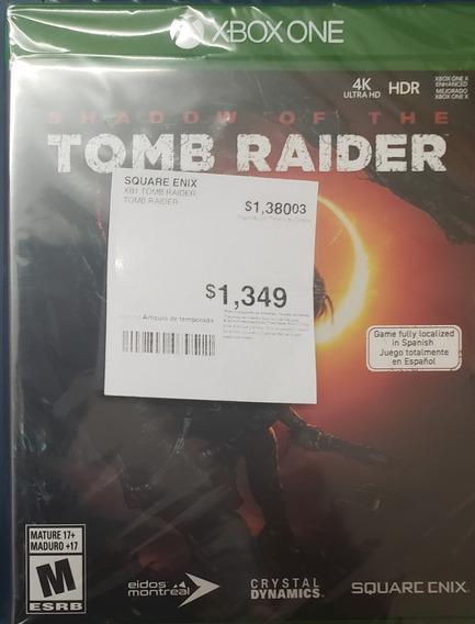 Shadow Of The Tomb Raider Juego Xbox One Nuevo Envio Gratis