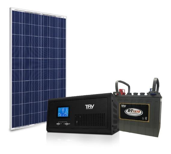 Kit Solar Basico + Montaje + Placa Usb C/panel + Inversor +