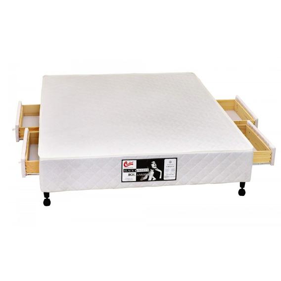 Base Box Queen 36cmx158cmx198cm Si Kingdom 4 Gavetas Bb