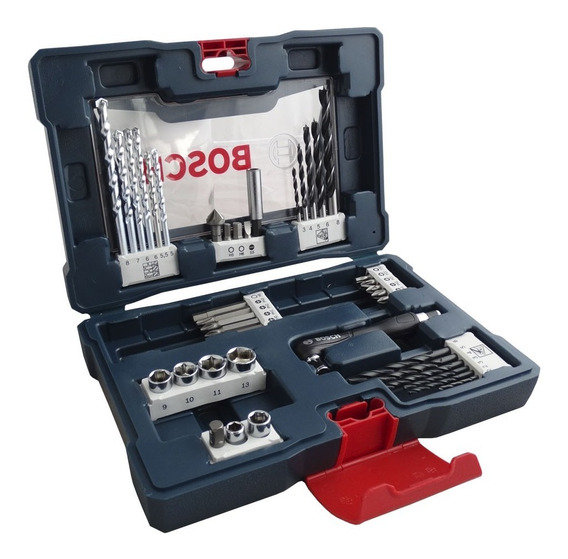 Kit Jogo De Acessórios Brocas Bits V-line Com 41 Peças Bosch