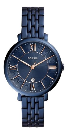 Reloj Dama Fossil Es4094 Color Azul De Acero Inoxidable