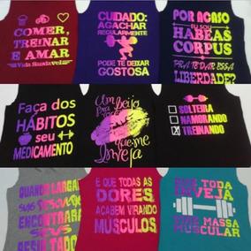 12 Bermudas Fitness + 3 Calças Legging + 3 Regatas Femininas