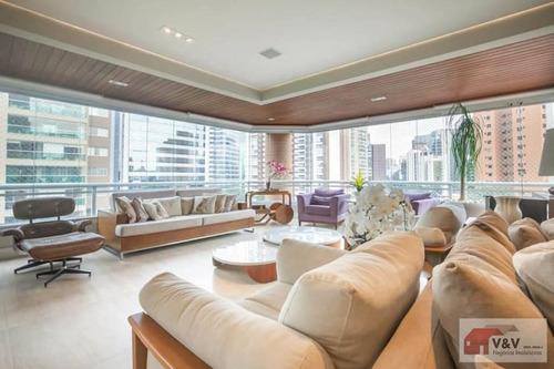 Imagem 1 de 15 de Apartamento Para Venda Em São Paulo, Brooklin, 4 Dormitórios, 3 Suítes, 5 Banheiros, 4 Vagas - Brklm1134_2-1190835