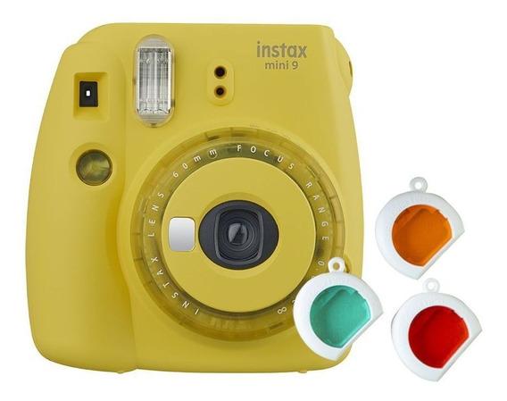 Kit Câmera Instantânea Instax Mini 9 Amarelo Banana + Filtr