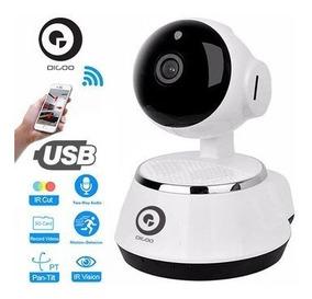 Camera Ip Visão Noturna Wireless Wifi Sem Fio 720hd
