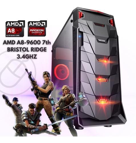 Cpu Gamer Barato Amd A8-9600 16gb Ssd 240gb Video R7 2gb