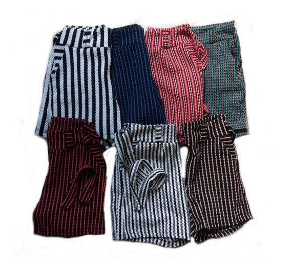 Kit 10 Shorts Feminino De Amarrar Com Listras Kit 10 Atacado