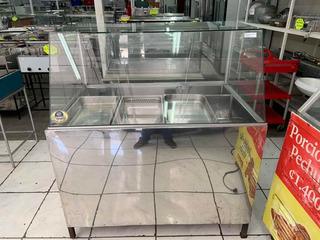 Autoservicio Urna Exhibición Vidrio Recto Acero Inox