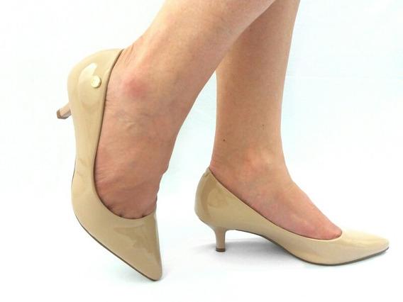 Sapato Scarpins Feminino Salto Baixo Vizzano