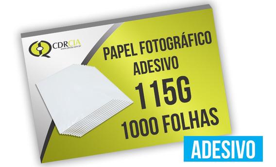 1000 Folhas Papel Foto Glossy Adesivo 115g A4 À Prova D