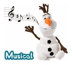 Pelúcia Olaf Musical Boneco De Neve Frozen Lembrancinha