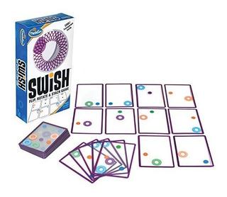 Think Fun Swish - Un Juego De Cartas Transparente Divertido