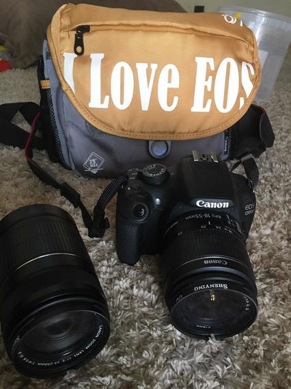 Câmera Fotográfica Canon 1200 D Com 2 Lentes