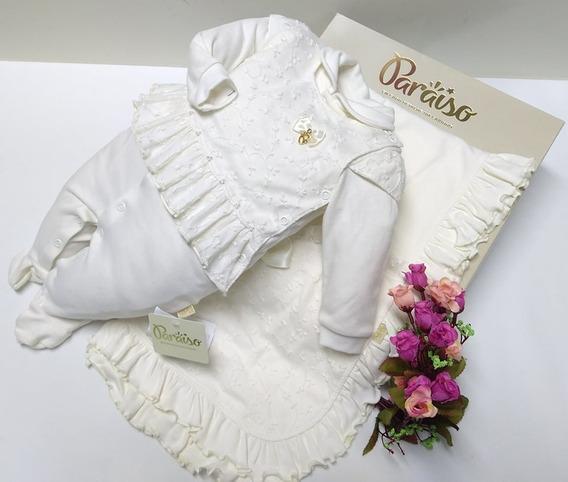 Saida Maternidade Luxo Paraiso Bebe Menina Batizado Ref 8482