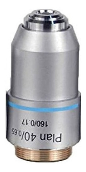 Objetiva Planacromática 40x Microscópio Biológico 20mm