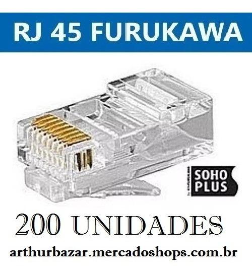 Conector Rj45 Cat5e Furukawa Sohoplus Qualidade Ótima 200 Pç