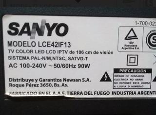 Placa Fuente Sanyo Lce42if13 Funcionando Ok