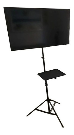 Pedestal Tripé Tv 50 Chao Lcd P/ Monitor Notebook Suporte E
