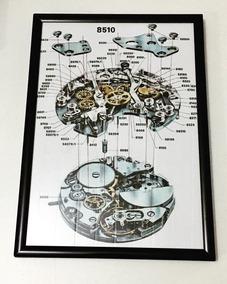 Quadro Relógio Calibre 11 1º Crono Automatico Heuer Breit