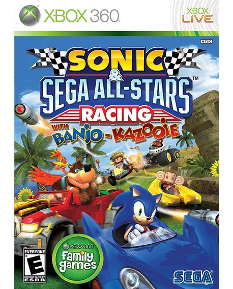Sonic E Sega All-stars Racing With Banjo.. Xbox360 Lacrado