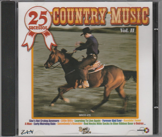 Cd Country Music - 25 Sucessos - Vol Il 2