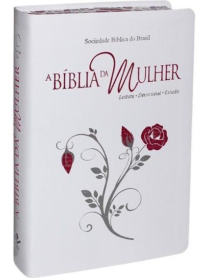 Bíblia De Estudos Da Mulher Ara   Capa Branca   Feminina Sbb