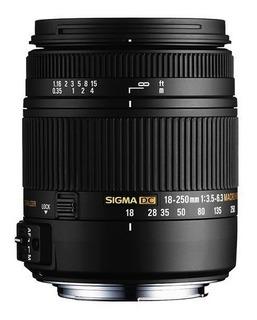Lente Sigma 18-250mm F3.5-6.3 Dc Macro Os Hsm Canon Cuotas