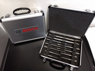 Kit Set Bosch Sds-plus 2 Cinceles Y 9 Mechas Maletin