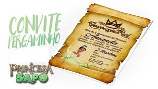 Convite Digital Princesa E O Sapo