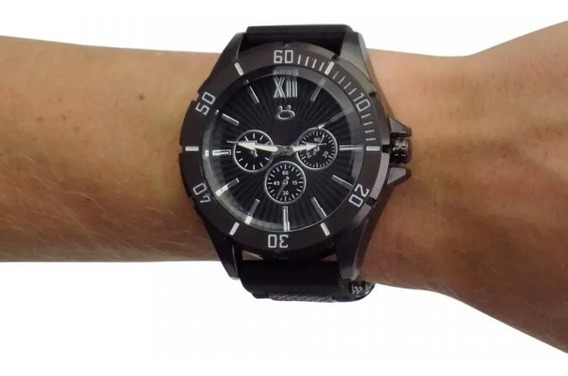 Relógio Masculino Pulseira Em Silicone Onix