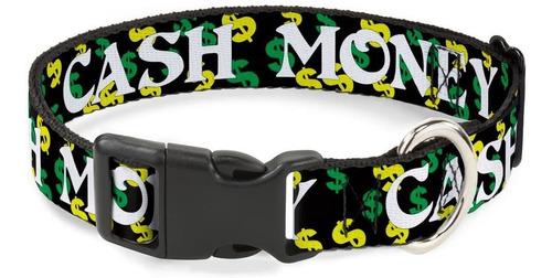 Imagen 1 de 4 de  Dog Collar Plastic Clip Cash Money Dollar Black