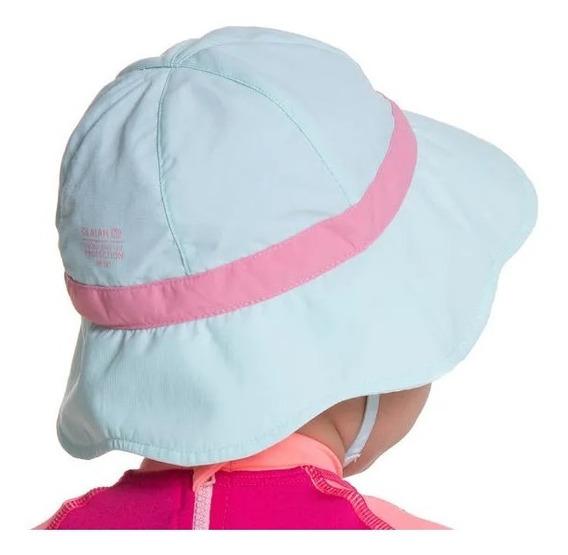Chapéu Com Proteção Solar Anti Uv Para Bebês Rosa