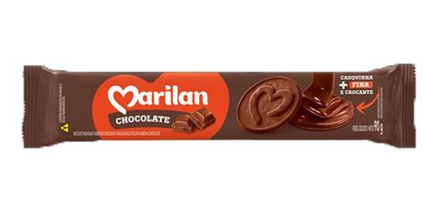 Imagem 1 de 2 de Biscoito Bolacha Recheado Chocolate Marilan 90g