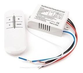 Interruptor Por Controle Remoto Sem Fio 3 Vias De 3 Canais