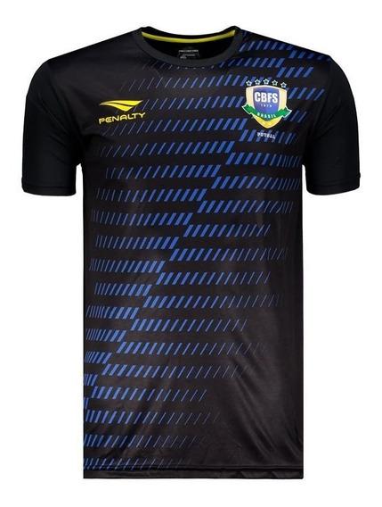 Camisa Penalty Brasil Cbfs Futsal 2019 Aquecimento
