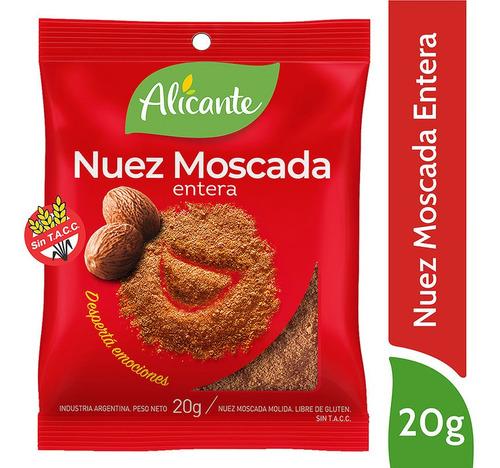 Alicante Nuez Moscada Entera X 20 Gr