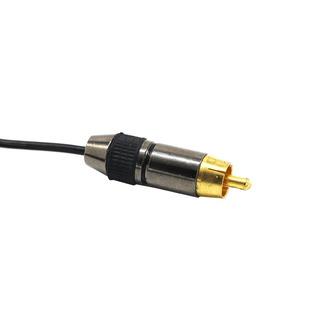Puro Oro 3.5 Estéreo Gato Socket A 2 Phono Rca Enchufes Ada