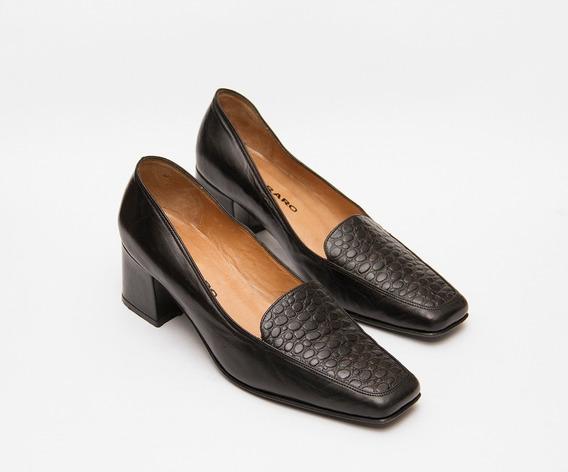 Zapatos De Mujer Con Taco 100% Cuero Marca Ferraro Numero 35