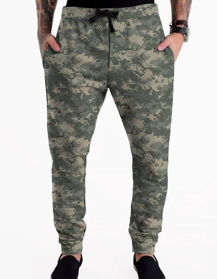 Calça Moletom Masculina Camuflada Camo Militar Swag #6