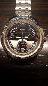 Swatch Fool Fly Retrograde Chronograph Irony Stainless Steel