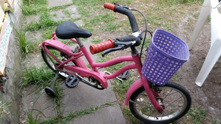 Bicicleta Rodado 14 Para Nena Con Canasto