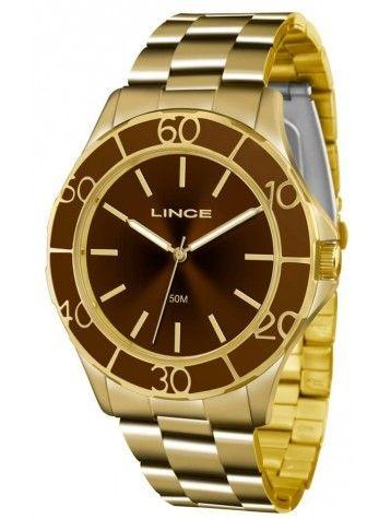 Relógio Lince Feminino Lrgj067l Dourado