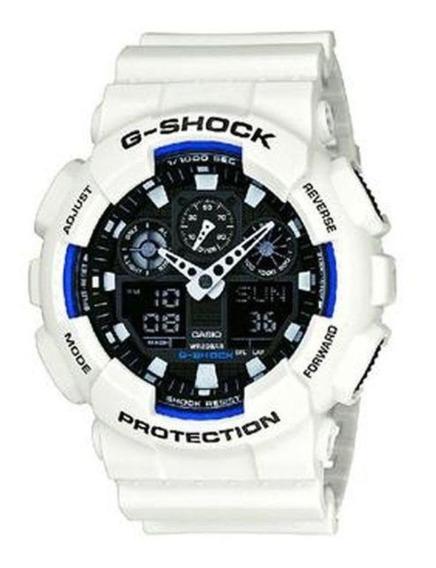 Relógio Casio Masculino G-shock Branco Ga100b7adru