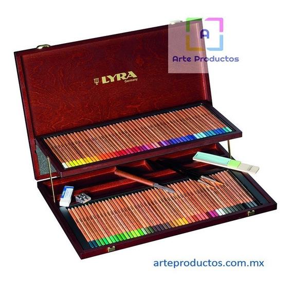 Lápices Colores Acuareleables Estuche De Madera 106
