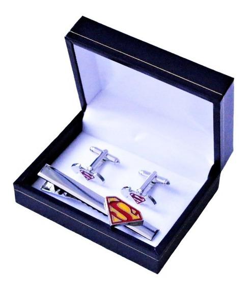 Set Colleras (gemelos) + Prendedor Batman Superman