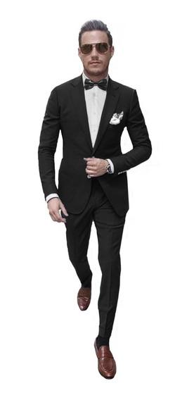 Trajes Slim Fit Ambos Satinados Con Moño Y Camisa De Vestir