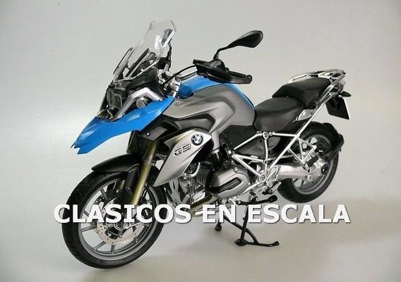 Bmw R 1200 Gs Espectacular Muy Detallada - Moto Schuco 1/10