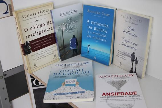 Lote Com 6 Livros Augusto Cury, Gestão, Brilhantes, Vendedor