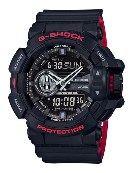 Relógio Casio G-shock Ga-400hr-1adr Ga 400 Red Black