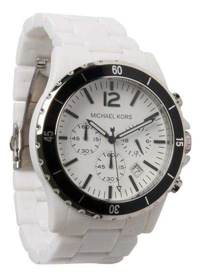 Relógio Michael Kors Mk8127 Orig Acrylic White Black